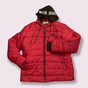 True Religion Men's Red Black Jacket